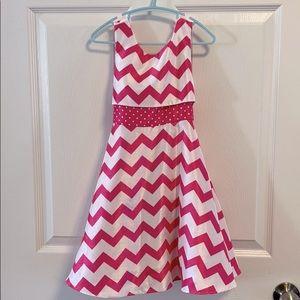 Jona Michelle white and pink zigzag dress 4